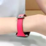 애플워치6 5 4 3 2 1 컬러 가죽 밴드 스트랩 시계줄