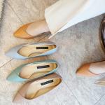 [애슬릿]골드 라인 스텔레토 여성 미들힐 구두 5cm