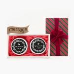 크리스마스 선물세트 메시지 틴캔들 트윈 set
