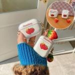 에어팟 1 2 3세대 프로 딸기 키링 투명 실리콘 케이스