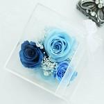 [시들지 않는 영원함 프리저브드 플라워] 큐브M-BLUE