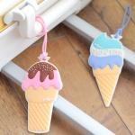 아이스크림 여행가방 실리콘 네임택