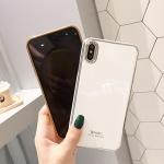 아이폰 xr xs max 7 8 + 슬림핏 심플 골드 젤리케이스