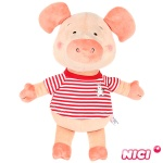[NICI]니키 위블리 레드 줄무늬 티셔츠 40cm 댕글링-88763