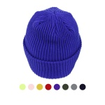 [디꾸보]니트 골지 롱비니 남녀공용 모자 ET7178