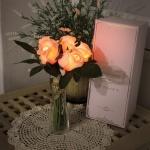 베이비 핑크 로즈 부케 LED 무드등