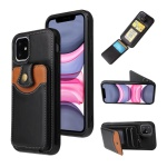 아이폰11 프로 맥스/카드 지갑 가죽 실리콘 폰케이스