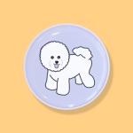 비숑 강아지 에폭시 스마트톡 그립톡 거치대