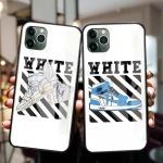 아이폰11 프로 MAX 화이트 슈즈 강화유리 하드 케이스