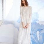 시스루 레이스 롱 드레스 화이트
