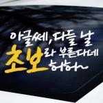 아글쎄 - 초보운전스티커(NEW211)