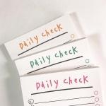 [사심굿즈]Daily check 메모패드 3종