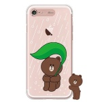 [SG DESIGN] iPHONE7 8 PLUS 라인프렌즈 브라운 RAIN