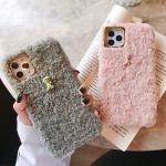 아이폰11 pro max 케이스 양털 니트 슬림핏 그립톡