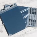 스프링장식이 장착된 화스너 책표지..청운그린화일 청표지-고급형 1팩(10조/입)