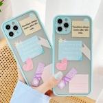 아이폰11 pro max 라벨 스티커 반투명 실리콘 케이스
