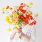 고급 양귀비 꽃 조화 5color 예쁜 소품 실크플라워