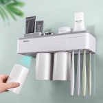 아이디어 욕실용품 칫솔 꽂이 양치컵 세트(2인용)