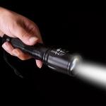 레저 LED 강력 고휘도 줌 손전등