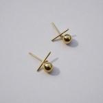 10k gold bell earring