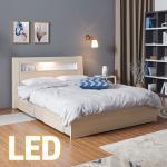 홈쇼핑 LED/서랍 침대 Q (양면스프링매트) KC201
