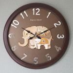 예쁜 인테리어 Wall Clock 미러넘버 코끼리 골드