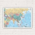 GN0761 아시아 & 중동 지도