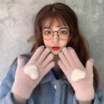 하티 겨울 터치 털장갑