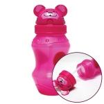 동물원 빨대 물병 350ml 핑크 어린이 휴대용 물통