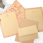 패턴 크라프트 편지지