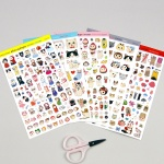 choo choo decoupage sticker