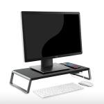 우든스틸 모니터받침대 USB허브 프린터 노트북