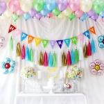 홈파티장식-생일파티 풍선세트(레인보우)