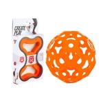 FOOOTY 3D 입체퍼즐 장난감 공 인테리어소품 오렌지