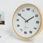 250심플우드벽시계-A