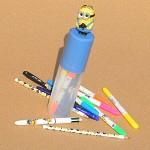[BIC] 귀여운 미니언이 달린 캐릭터 필기구 세트-프랑스 빅 MINION TUB stationery set HA108-4