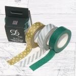 [Nakabayashi] 선물포장된 일본산 디자인 데코테이프-나카바야시 마스킹테이프 3개/팩 HF27-18