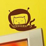 [디자인베이]  우주고양이 그래픽스티커 캐릭터 포인트 시트지