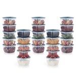 한끼밥 냉동밥 전자렌지용기 400ml 25개(블루)