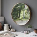 골드 원형 벽거울 - 대 50cm