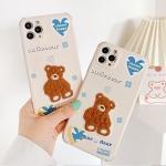 아이폰 11 PRO SE2 8 XR X 곰돌이 자수 실리콘 케이스