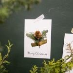 크리스마스 프리저브드 카드 솔방울