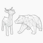 [톰텐]페이퍼크래프트 루돌프and사라져가는 북극곰SET