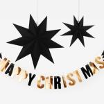 반짝이는 크리스마스 블랙스타 가랜드 + 조명 set