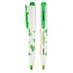 [모리스] 노크식더블칼라형광펜(노랑+초록) 307222