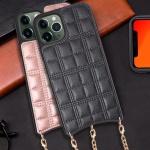 아이폰11 프로 맥스 패턴 엠보싱 핸드폰 목걸이 케이