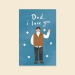 [사랑카드] HH3523-DAD I LOVE YOU 감사카드