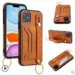 아이폰11 PRO MAX/가죽 스트랩 카드 수납 지갑 케이스