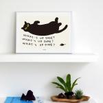 [카멜앤오아시스] What's Up Dude 고양이 포스터