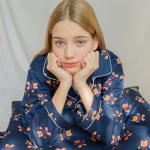 Covy heart-navy(Pajamas)